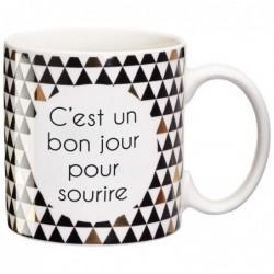 DRAEGER Mug cadeau Jour pour sourire Blanc