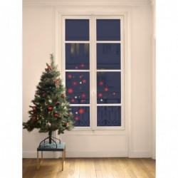 DRAEGER Stickers fenêtre étoiles Noël rose foncé