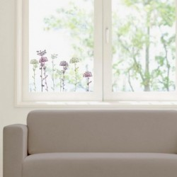 DRAEGER Sticker fenêtre Ombelles mauve