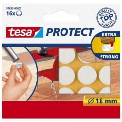 TESA Feutre antiglisse/anti-rayures, blanc, diamètre: 18 mm,