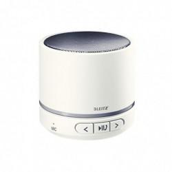 LEITZ Mini Enceinte Bluetooth Portable 6h d'Autonomie, Son Puissant, WOW blanc/gris