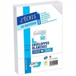 GPV Paquet de 50 enveloppes blanches C5 162x229 80 g/m² bande de protection