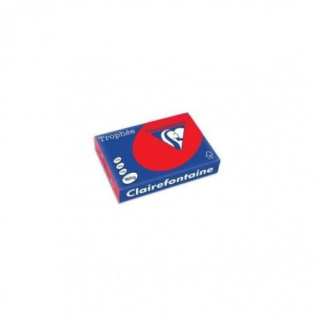 TROPHÉE Ramette 250 Feuilles Papier 160g A4 210x297 mm Certifié FSC  rouge corail