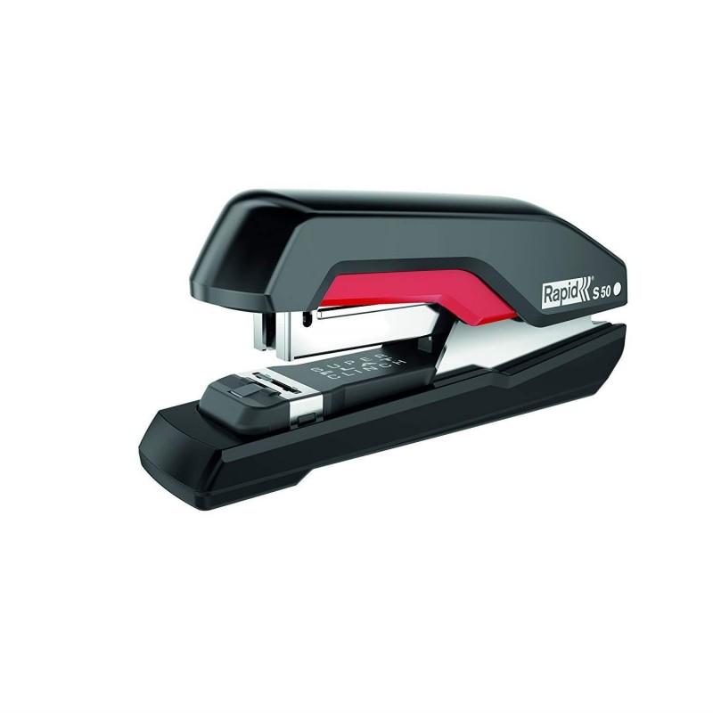 RAPID Agrafeuse Supreme Halfstrip S50 Noir Rouge