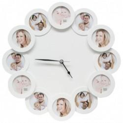 DEKNUDT Cadre photo horloge bois Diamètre 42cm  12x7x7