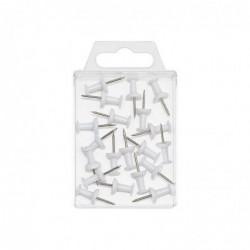 WEDO Bte de 20 Punaises tableau Diam 10 mm Blanc