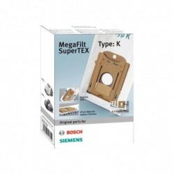 BOSCH Lot de 4 Sacs Aspirateurs MegaFilt SuperTex Type K
