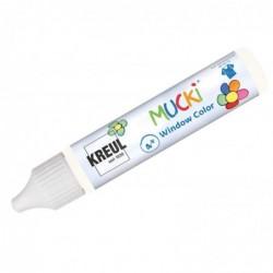 "KREUL Window Color Pen ""MUCKI"", blanc, 29 ml"