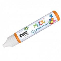 "KREUL Window Color Pen ""MUCKI"", orange, 29 ml"