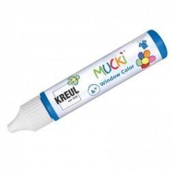 "KREUL Window Color Pen ""MUCKI"", bleu foncé, 29 ml"