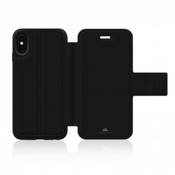 BLACK ROCK Étui Portefeuille Material Folio Pure pour Apple iPhone X, Noir