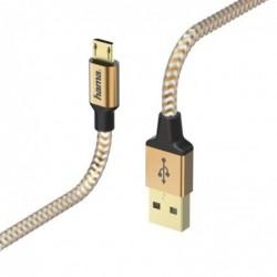 HAMA Câble de charge/données Reflective Micro-USB, 1,5 m Orange