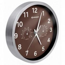 BRESSER MyTime Thermo-/ Hygro- horloge 25cm Marron