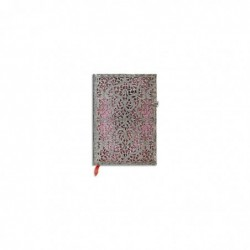 PAPERBLANKS Carnet Filigrane Argenté Rose Tendre Ultra 18x23cm 240 pages lignées