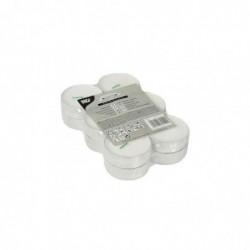 PAPSTAR Lot de 12 Bougies Chauffe-plats Maxi, diamètre: 59 mm, blanc