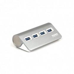 PORT DESIGNS Port Designs 900121, USB 3.0 (3.1 Gen 1) Type-A, USB 3.0 (3.1 Gen 1) Type-A, 0,45 m, 5000 Mbit/s, USB, Gris