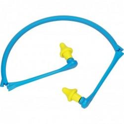 DELTA PLUS Bouchons d'oreilles mousse polyuréthane reliés par un arceau pliable jaune bleu