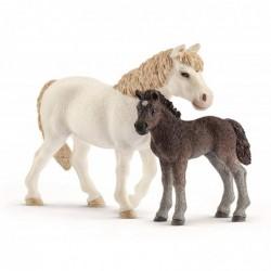 SCHLEICH Farm World  Figurine Ponette et Poulain, 42423