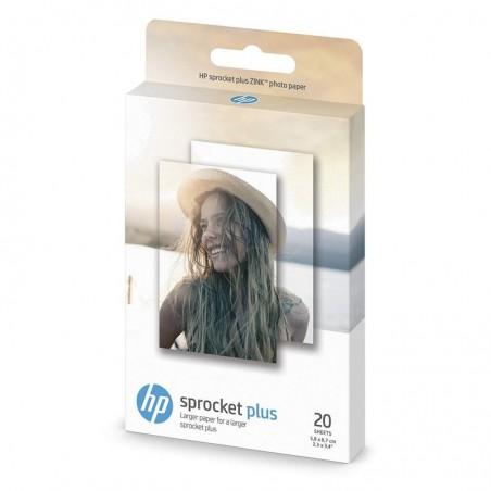 """HP Paquet de 20 feuilles autocollantes Sprocket Plus Photo 2,3 x 3,4"""" / 5,8x8,7 cm"""