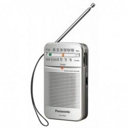 PANASONIC Radio de Poche avec Sangle, Fonctionnement sur Batterie Argent