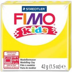 FIMO kids Pâte à modeler, durcissante au four, jaune, 42 g