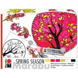 "MARABU Set de peinture pour la fenêtre ""SPRING SEASON"" 6 x 25 ml"