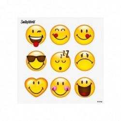 """PAPSTAR Lot de 20 Serviettes à motifs """"Happy Smiley"""" 330 x 330 mm"""