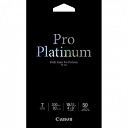CANON pack 50 feuil. Photo papier 10x15 cm Pro Platinum 300 g