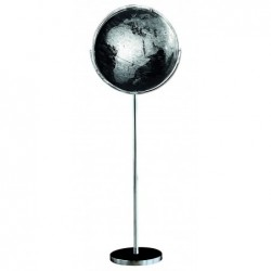 CARPENTRAS SIGN Globe politique non lumineux sur pied métal Ø 42,5 cm Noir et Argent