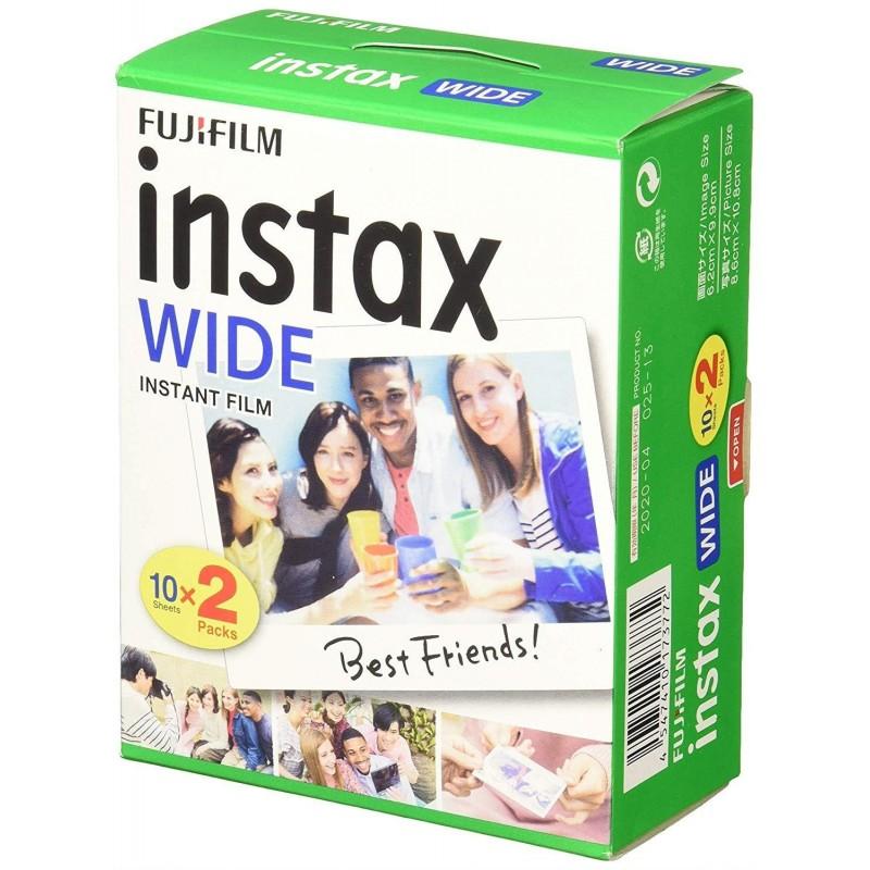 FUJIFILM Instax Wide 99 x 62 mm Compatible Instax Wide uniquement Bipack 10 x 2 films