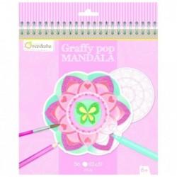 AVENUE MANDARINE Carnet de Coloriage 20 x 21 cm Graffy Pop Mandala Fille