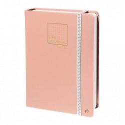 QUO VADIS CARNET 21 DOTS Life Journal pour Bullet Journal Rose corail