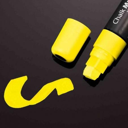 SIGEL Marqueur à craie, pointe biseautée: 5 15 mm, jaune