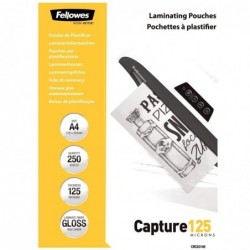 FELLOWES Pochettes à plastifier, format A4, 250 mu, pack éco x250