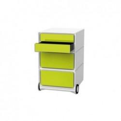 """PAPERFLOW Caisson Mobile """"EasyBox"""" 4 tiroirs ABS Brillant Vert - L39xH64,2xP43,6 cm"""