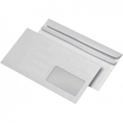 OXFORD 500 Enveloppes 80g DL 110 x 220 mm à Fenêtre 35x100 Autocollantes