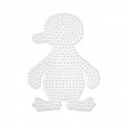 "HAMA Plaque pour perles Midi ""pingouin"" Blanc"