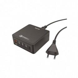 HAMA Station de charge 5 ports (1 QC 3.0, 1 USB Type-C, 3 USB) 8 A, noir
