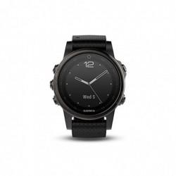 GARMIN Fenix 5S Montre GPS Multisports Outdoor Acier inoxydable Bracelet Silicone Noir