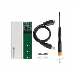 TRANSCEND M.2 SSD Conversion Kit Boitier Externe Pour Ssd M.2 Usb 3.1 Type C (Argent)