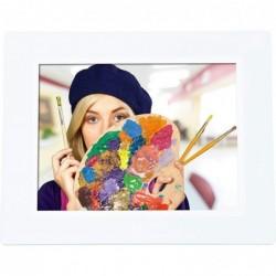 """ROLLEI Degas DPF-850 Cadre photo numérique multimédia avec écran TFT-LED 8"""" (20,3 cm) blanc"""
