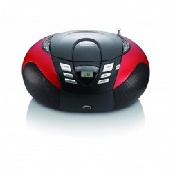 LENCO SCD-37 USB adio-CD portable - Boombox avec lecteur USB MP3 Rouge