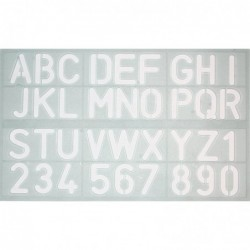 SIGN DIFFUSION Trace-lettres Majuscule 30 mm ABS Coloris translucide