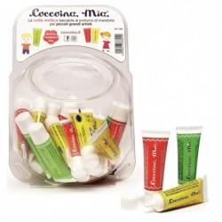 """COCCOINA Bonbonnière de 30 tubes de colle vinylique blanche """"Mia"""" 25 g coloris assortis"""