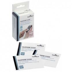 DURABLE Bte de 50 Lingettes nettoyantes pour téléphone TELEPHONE CLEAN