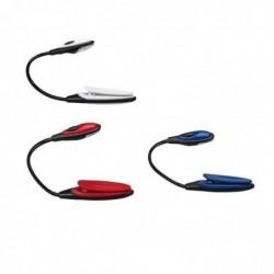 CARPENTRAS SIGN Mini Lampe Liseuse à Pince 2 Led Coloris Aléatoire Gris Bleu Rouge