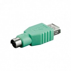 GOOBAY Adaptateur USB Prise A/Fiche PS/2 Vert