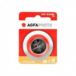 AGFAPHOTO Pile Bouton LITHIUM CR2025 3V 1Pack