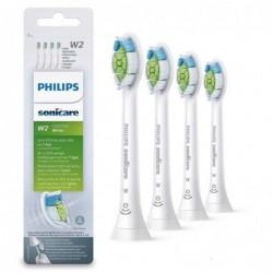 PHILIPS HX 6064/10 Lot de 4 Têtes de Brosse Sonicare Optimal White W2