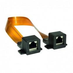 LOGILINK PROFESSIONAL Câble Réseau Passe-fenêtre RJ45 super plat 2 x Femelle 30 cm